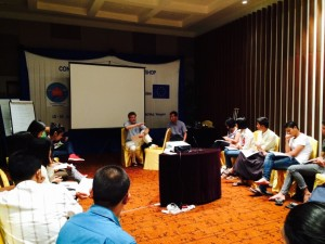 CPCS media training in Yangon, 2015