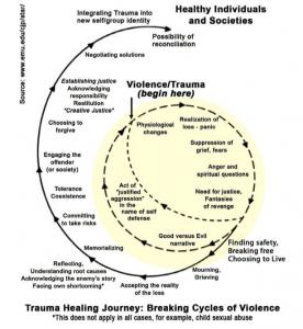 Trauma healing journey